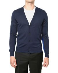 Givenchy Silk Blend Cotton Knit Cardigan Sweater - Lyst