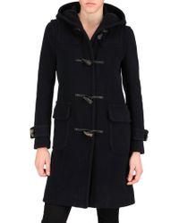 Harnold Brook - Hooded Wool Herringbone Coat - Lyst