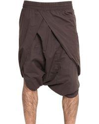 Silent - Damir Doma - Cotton Poplin Sarong Shorts - Lyst