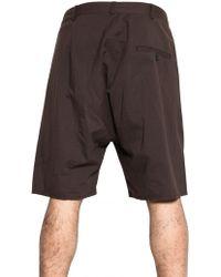 Silent - Damir Doma - Cotton Poplin Shorts - Lyst