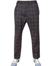 Vivienne Westwood 19cm Checked Wool Trousers - Lyst