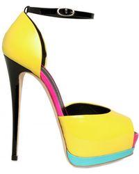 Giuseppe Zanotti 140mm Patent Peep Toe Sandals - Lyst