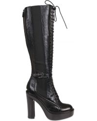 Givenchy 130mm Calfskin Lace Up Boots - Lyst