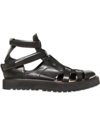 Neil Barrett Leather Sandals - Lyst
