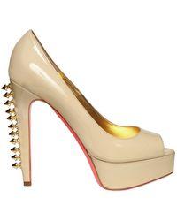 Ruthie Davis   130mm Patent Spiked Peep Toe Pumps   Lyst
