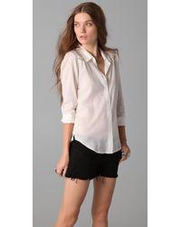 Textile Elizabeth and James Lace Austin Shirt - Lyst