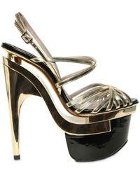 Versace 160mm Laminated Mirror Sandals - Lyst