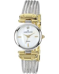Ak Anne Klein | Round Cable Bangle Watch | Lyst