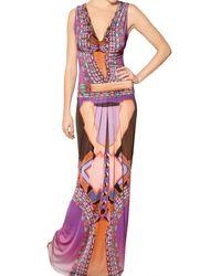 Etro Printed Viscose Jersey Dress - Lyst