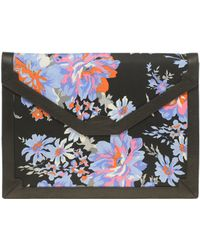 ASOS Collection Asos Fabric Envelope Clutch with Leather Trim - Lyst