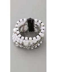 Juicy Couture - Pearl & Resin Multi Strand Bracelet - Lyst