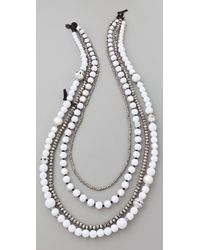 Juicy Couture - Pearl & Resin Multi Strand Necklace - Lyst