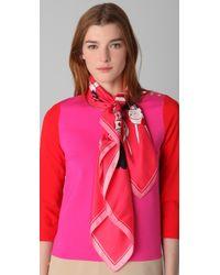 cc486fbb3d Hot Juicy Couture - Fifi Destination Silk Square Scarf - Lyst