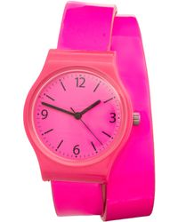 ASOS - Asos Neon Pink Double Strap Watch - Lyst