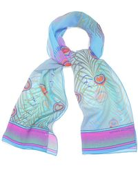 Matthew Williamson Peacock Georgette Strip Scarf - Lyst