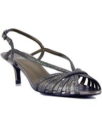 Pelle Moda Firefly - Metallic Leather Rhinestone Slingback Sandal - Lyst