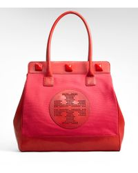 Tory Burch Meredith Tote - Lyst