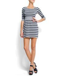 Mango Stripes Dress - Lyst