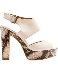 Mango Touch - Printed Sole Sandal - Lyst