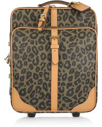 Mulberry - Leopard Trolley Scotch Grain Suitcase - Lyst