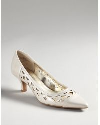 Ak Anne Klein Dymark Cut-out Pumps white - Lyst