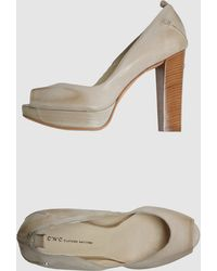 C'N'C Costume National Pumps with Open Toe - Lyst