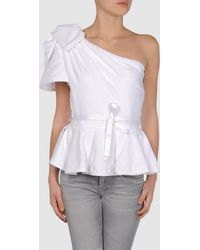 Just Cavalli Oversized Bow Shoulder Top  - Lyst
