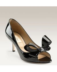 Valentino Couture Bow Pump black - Lyst