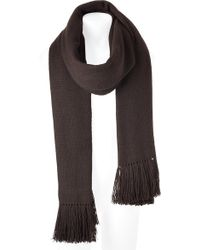 Balmain | Dark Brown Long Tibetan Yak Scarf | Lyst