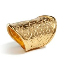 Bex Rox - Gold Woven Ring - Lyst