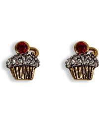 Juicy Couture | Gold Cupcake Stud Earrings | Lyst