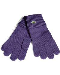 Lacoste - Violet Knit Gloves - Lyst
