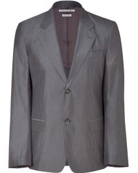 Marc Jacobs Grey Two-button Plaid Jacket - Lyst