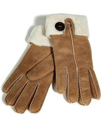 Ugg Chestnut Bailey Cuff Gloves - Lyst