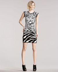 McQ by Alexander McQueen Intarsia-knit Tiger Dress - Lyst