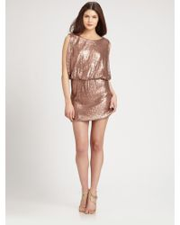 Laundry by Shelli Segal Sequined Knit Dress pink - Lyst