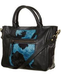 Topshop Animal Print Leather Holdall - Lyst