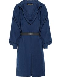 Isabel Marant Cajou Woven Raw Silk Hooded Dress - Lyst