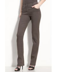 St. John Yellow Label Stretch Jeans brown - Lyst