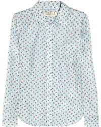 Textile Elizabeth and James Austin Rose-Print Silk Shirt - Lyst