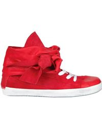 Cinzia Araia Suede Lace Around High Sneakers - Lyst