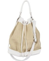 Diverso Italiano - Natural Linen Natascia Top Handle - Lyst