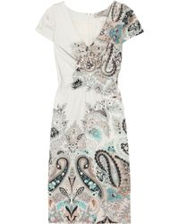 Etro Paisley-print Stretch Cotton-blend Dress - Lyst