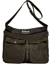 Barbour Olive Waxed Retriever Bag - Lyst