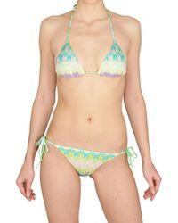 Missoni Leaf Cotton Viscose Knit Bikini Bathing - Lyst