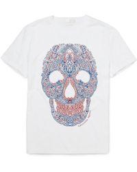 Alexander McQueen Paisley Skull-print T-shirt white - Lyst