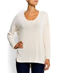 Mango Relaxed-fit Round Jumper - Lyst