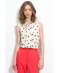 Marc By Marc Jacobs Hot Dot Silk Top - Lyst