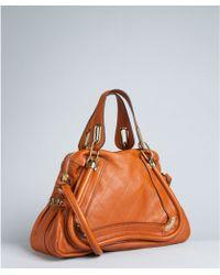Chloé Nutmeg Quilted Leather Paraty Medium Top Handle Bag - Lyst