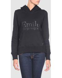 Emily The Strange - Hooded Sweatshirt - Lyst